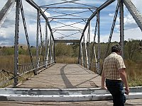 USA - San Jose NM - Closed 1921 Thru-Truss Bridge Detail (23 Apr 2009)
